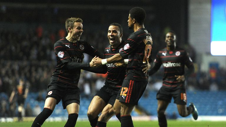 Gareth McCleary (third from the left): Celebrates after scoring Reading's first goal
