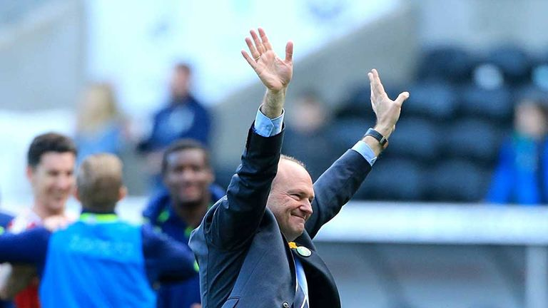 Pepe Mel: Celebrates with fans after win at Swansea