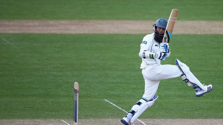 Moeen Ali during day three of County Championship Division Two match between Worcestershire and Glamorgan in Cardiff. Apr 19 2013.