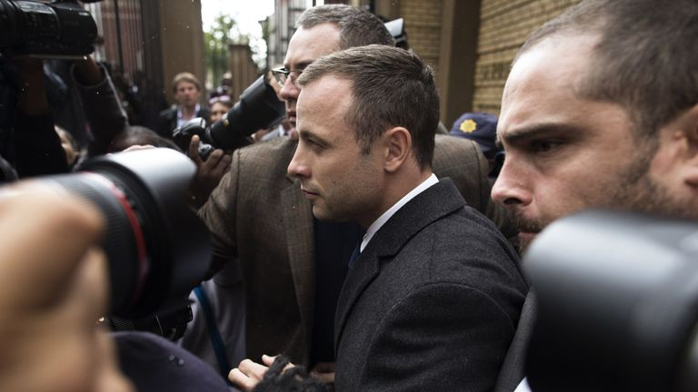 Oscar Pistorius: His trial has been adjourned for the day