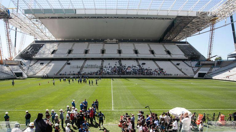 The Arena de Sao Paulo stadium
