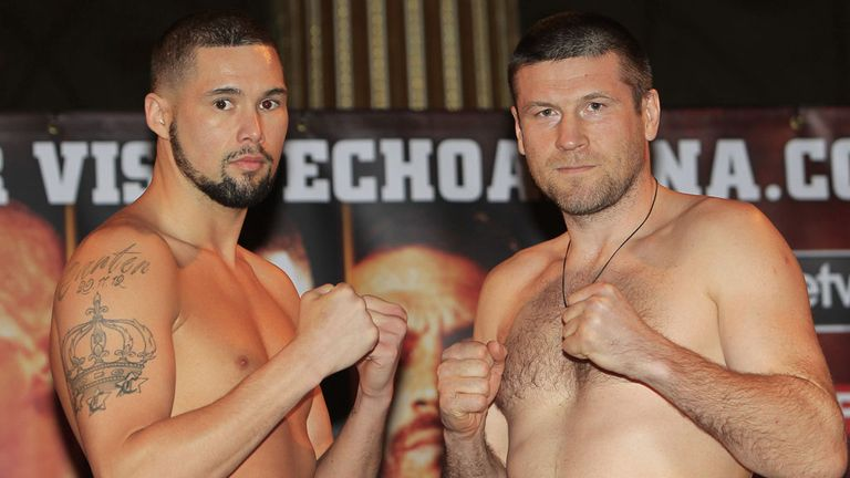 Tony Bellew: 3lb under the cruiserweight limit in Liverpool (Pic Lawrence Lustig)