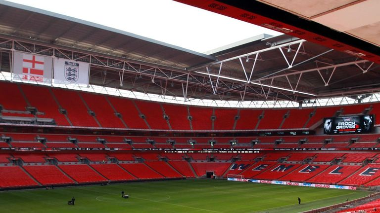Wembley: Has a 50-50 chance of hosting the final of the European Championship in 2020