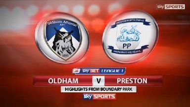 Oldham 1-3 Preston
