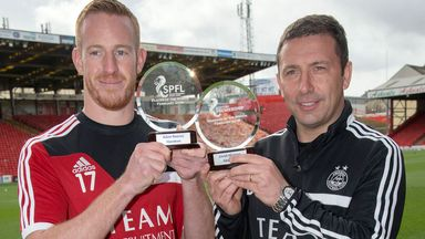 Adam Rooney & Derek McInnnes: Won the SPFL awards for February