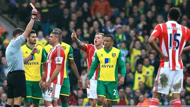 Jonathan Walters: Was shown red at Carrow Road