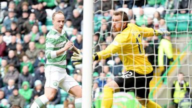 Leigh Griffiths: Scores the first of goal his hat-trick against Inverness
