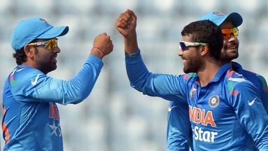 Ravi Jadeja's four wickets helped restrict Afghanistan to 159