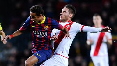 Ruben Rochina (right) in action for Rayo Vallecano