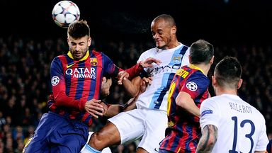 Vincent Kompany: Proud of City's performance against Barcelona