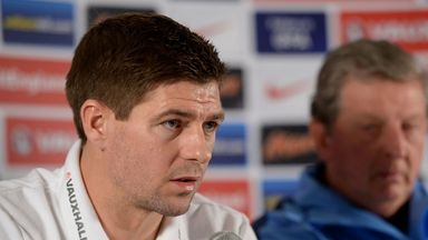 England and Liverpool captain Gerrard faces the press