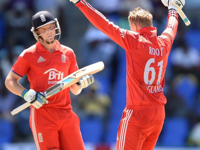 Root celebrates his century in England's victory
