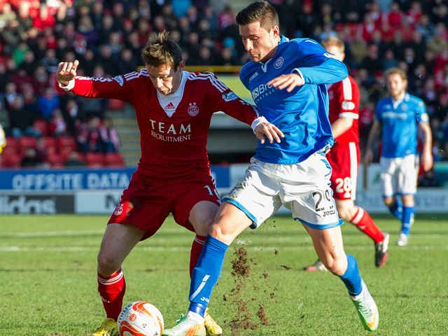 Peter Pawlett clashes with Michael O'Halloran
