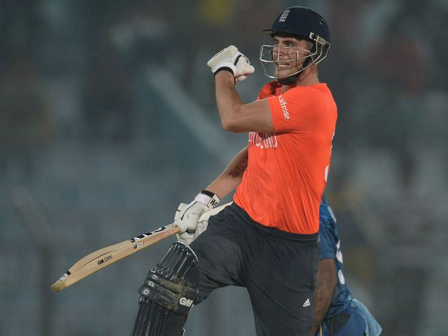 Hales celebrates as England record an unlikely victory