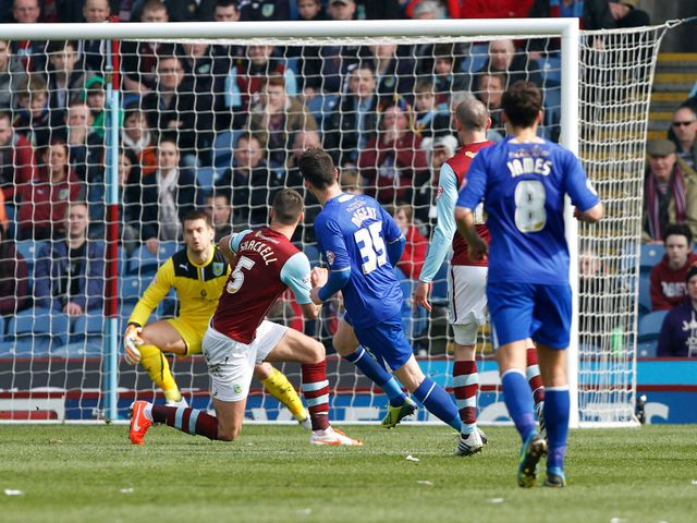 David Nugent scores the opening goal