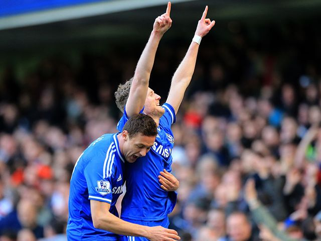 Andre Schurrle celebrates scoring for Chelsea
