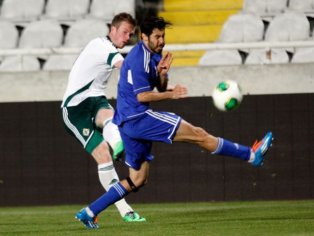Chris Brunt in action for Northern Ireland