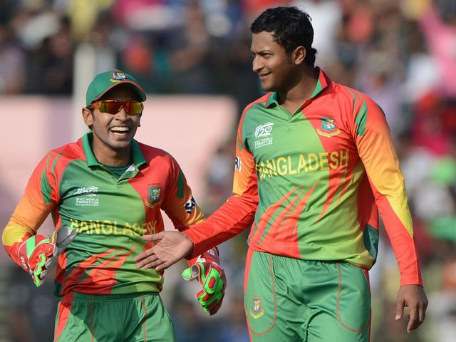 Bangladesh celebrate during their win