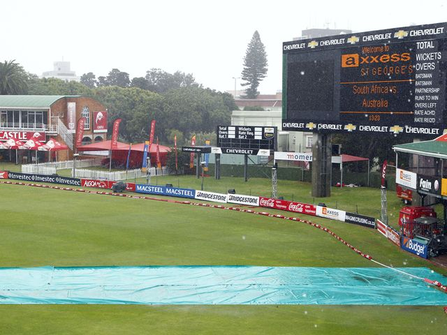 The soggy scene in Port Elizabeth