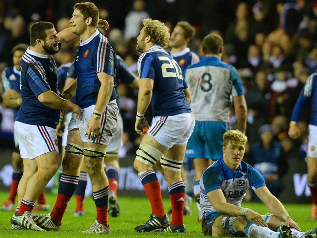 Celebrations for France at Murrayfield