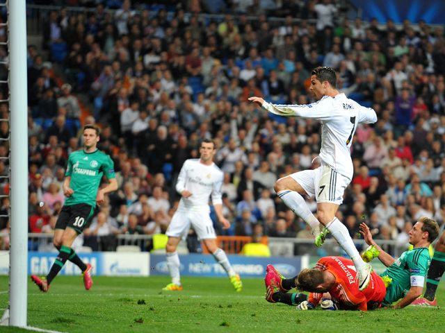 Cristiano Ronaldo turns home a Gareth Bale cross