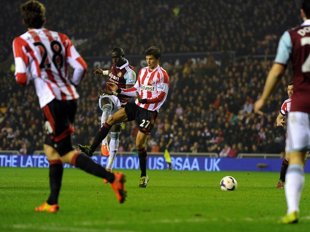 Diame fires home what proved to be the decisive goal