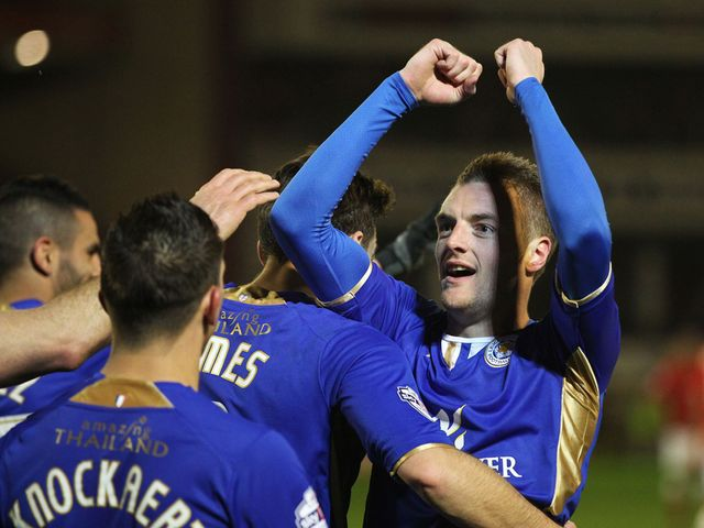 Jamie Vardy netted for the Foxes