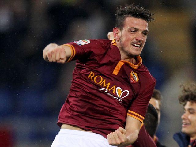 Alessandro Florenzi celebrates winner Roma v Torino Serie A 2014