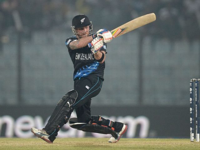 Brendon McCullum: Top-scored for New Zealand with 40