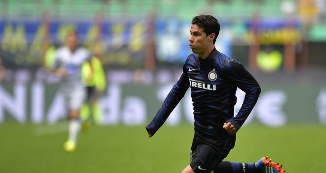 Hernandes in possession for Inter Milan