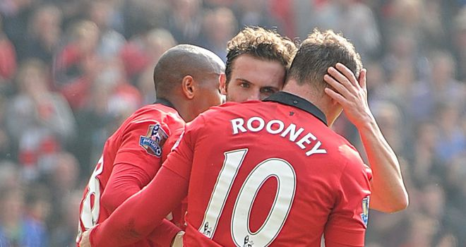 Wayne Rooney and Juan Mata: Both on the scoresheet against Villa