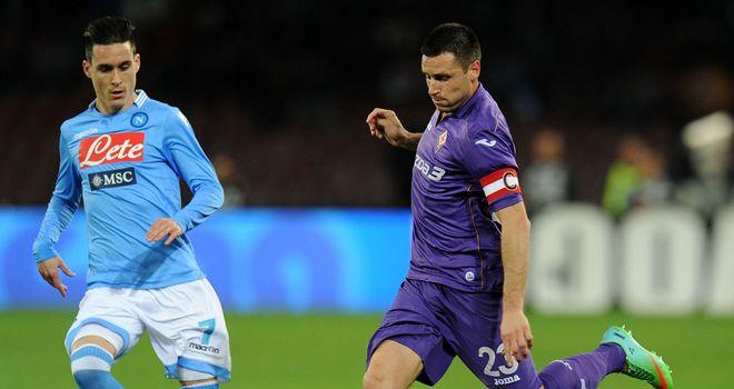 Fiorentina claimed a 1-0 win at Napoli on Sunday