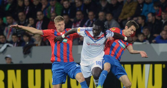 Bafetimbi Gomis: Scored Lyon's only goal of the evening
