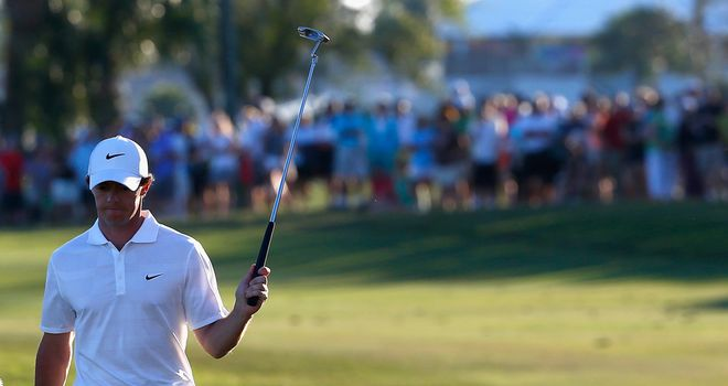Rory McIlroy: Holds two-shot lead at Palm Beach Gardens