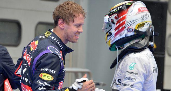 Head-to-head battle: Lewis Hamilton and Sebastian Vettel