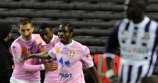 Evian celebrate their late equaliser