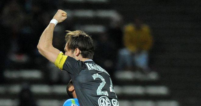 Gary Kagelmacher celebrates Valenciennes' victory