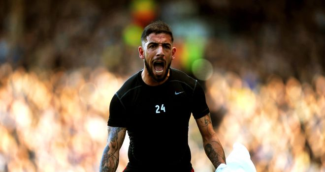 Ashkan Dejagah: Celebrates his goal