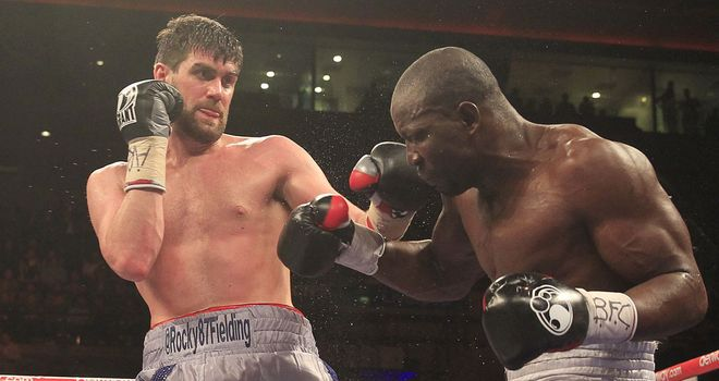 Rocky Fielding: Overweight and failed to impress against Charles Adamu (Pic Lawrence Lustig)