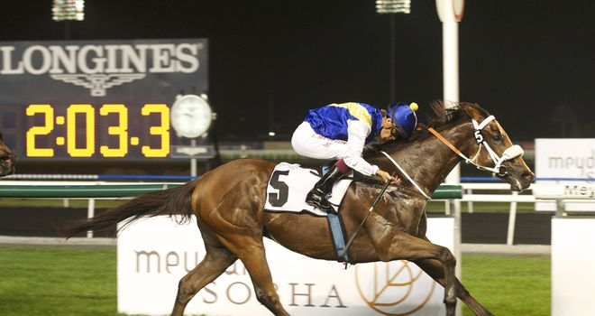 Sanshaawes: Runs in the feature (pic courtesy Dubai Racing Club / Andrew Watkins)
