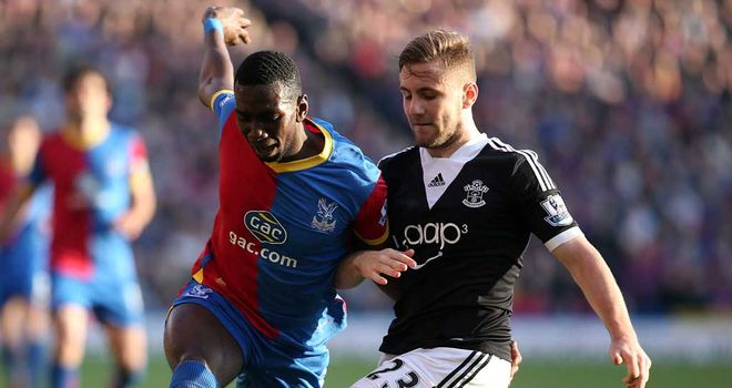 Luke Shaw: Southampton defender tackles Palace winger Yannick Bolasie