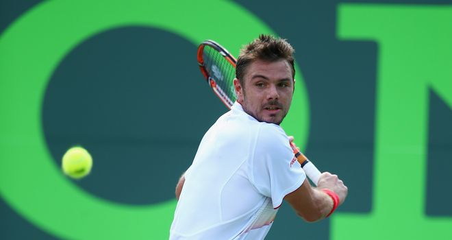 Stanislas Wawrinka: Safely through to the third round of the Sony Open Tennis