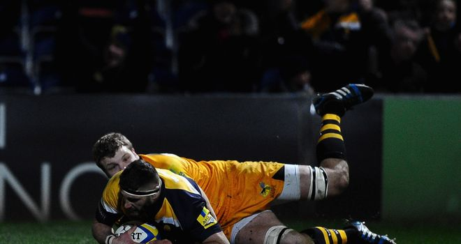 Sam Betty: Scored in a losing cause for Worcester