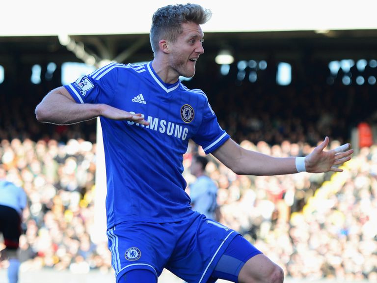 Schurrle scored all three Chelsea goals at Fulham