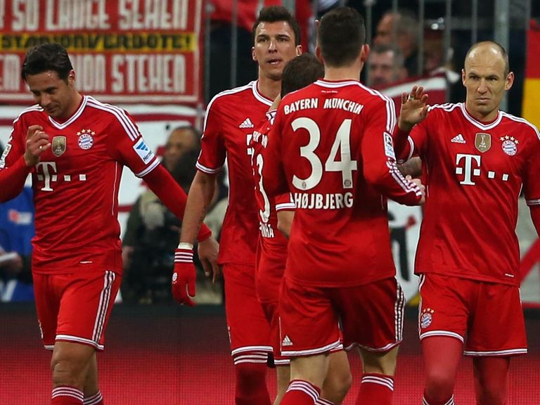 Bayern Munich celebrate during another big win