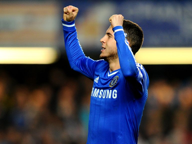 Eden Hazard: Looking to beat title rivals Arsenal