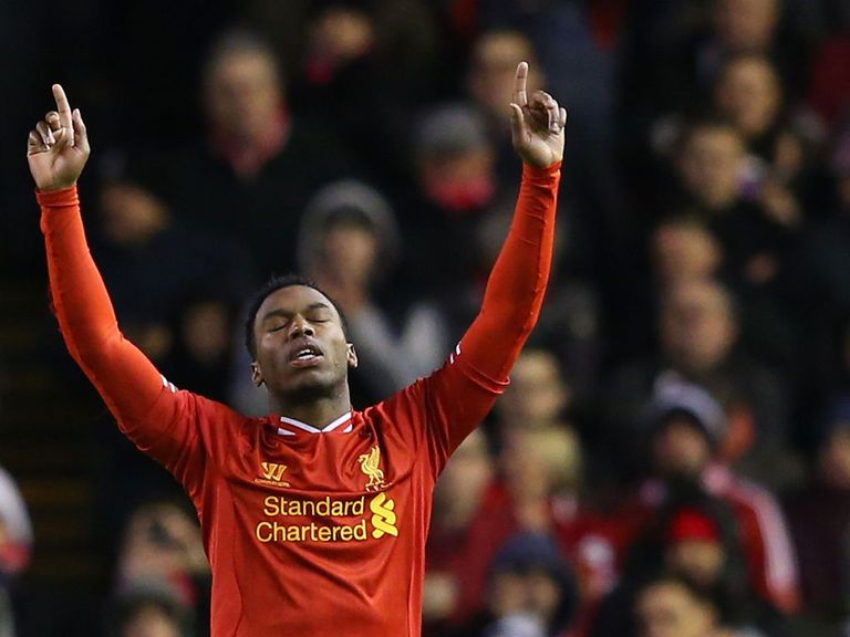 Daniel Sturridge will hope to boost his goal tally against Spurs on Sunday