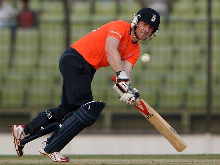 Eoin Morgan: Struck 43 not out for England