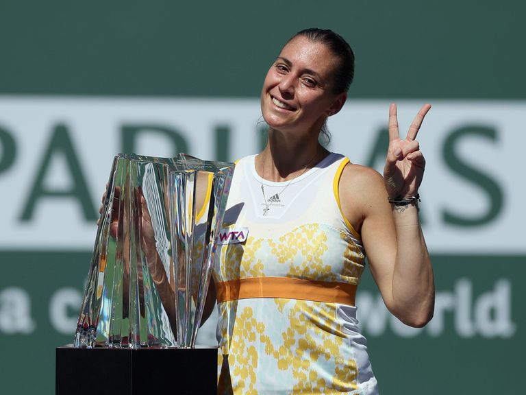 Flavia Pennetta: Won the final in straight sets