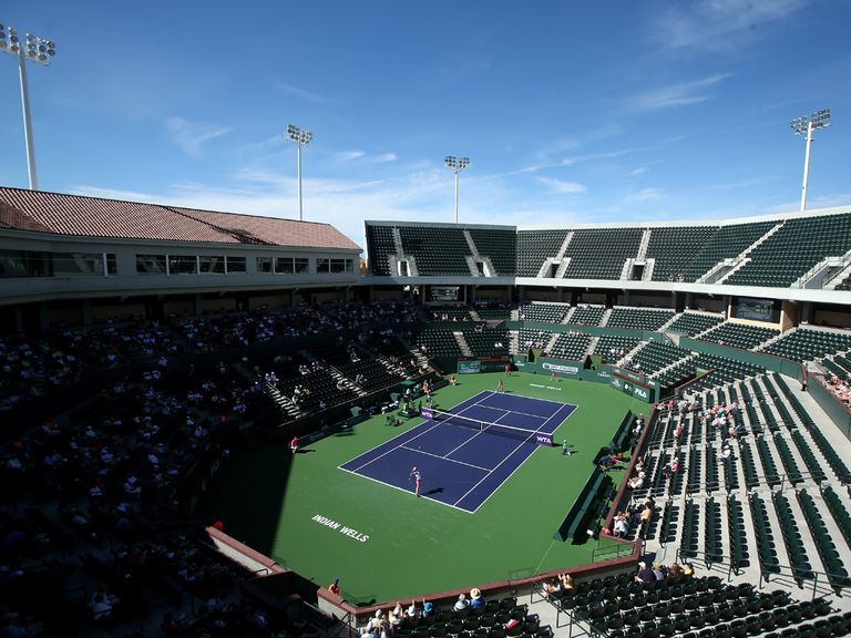 Stadium Court 2 was built in less than a year at Indian Wells